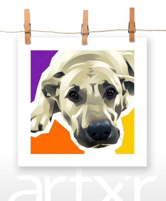 TOBY / The PET PROJECT / Labrador Retriever / Fine Art Print / Various Sizes