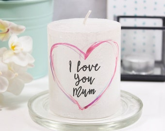 I Love You Mum Metallic Mother's Day Candle - Mothers day gift - Mothers Day candle - I love you mum - I love you candle - Candle for her