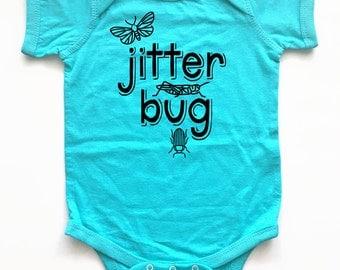 Wham! Funny baby shirt. Cute! Jitter Bug!