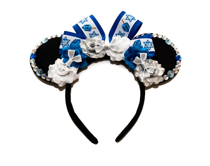 Hanukkah Mouse Ears Headband