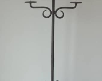 Vintage Candelabra candlestick holder wrought iron