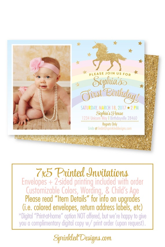 Unicorn birthday invitation unicorn invitation unicorn party il570xn stopboris Image collections