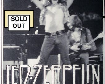 LED ZEPPELIN july 24 1973 concert poster 3 Rivers Stadium Pittsburgh Pennsylvania  11 inches by 17 inches and Laminated