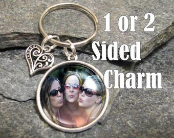 Photo Key Chain, Custom Photo Key Chain, Picture key chain, Personalized Key Chain, Single or double sided