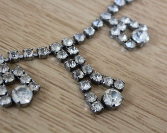 1950s vintage necklace chandelier diamante necklace drop diamante necklace 50s necklace chandelier diamante necklace evening art deco 20s