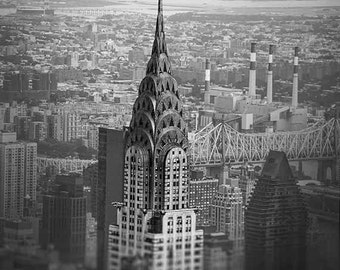 New York Skyline Print, Black and White Fine Art Photography, Chrysler Building, NYC Wall Art, New York Skyline Photograph