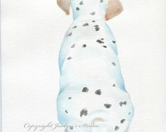 "ORIGINAL Dalmation Puppy, 8""x10"" Watercolor Dalmation, Watercolor Dog, Dog tail, Dog Sketch, Dalmation Art, Dalmation Painting"
