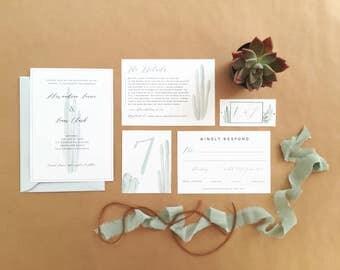 Desert Wedding Invitation Set - Cactus Invitation Set