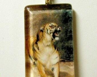 Fierce Tiger pendant and chain - WGP02-004