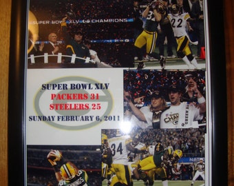Green Bay Packers 31 Pittsburgh Steelers 25  - Super Bowl 2011 - souvenir print