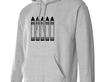 Crayons Hoodie Sweatshirt S M L Xl 2Xl 3Xl