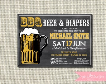 Baby is Brewing Invitation, Beer Baby Shower Invitation, Beer Baby Shower, Guy Baby Shower Invitation, Dad Baby Shower, Baby Shower BBQ