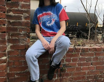 Chicago Cubs Vintage Tie Dye Tshirt