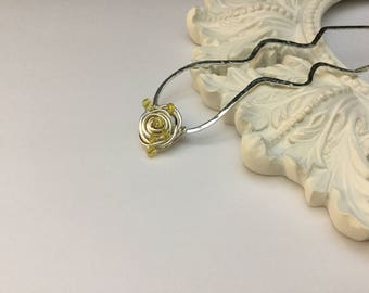 Reduced/Sterling Yellow Sapphire Rose  Hair Pin/Fork