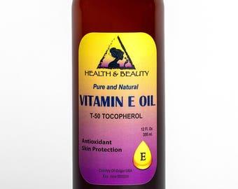 12 oz TOCOPHEROL T-50 VITAMIN E OIL Anti Aging Natural Premium Pure