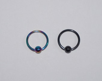 Surgical Steel Captive Ball closure body jewellery lip piercing nose piercing septum Two Colours