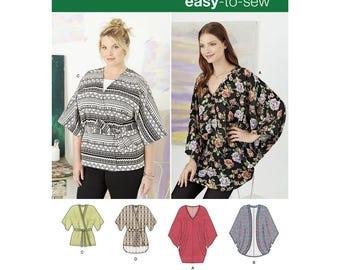 Simplicity 8091 Misses Women's Plus Kimonos in Various Styles (Xxs Xs S M L Xl Xxl)