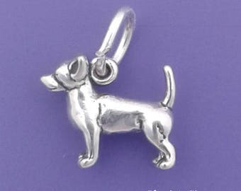 CHIHUAHUA Charm .925 Sterling Silver Miniature Small Dog - lp3538