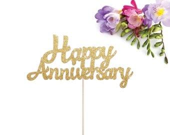 Happy Anniversary Cake Topper, Anniversary Cake Topper, Wedding Anniversary Topper, 50th Wedding Anniversary, 40th Wedding Anniversary
