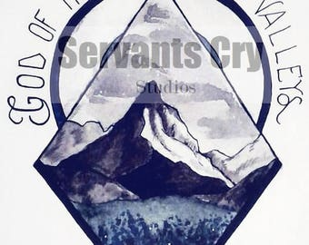 God of the Hills and Valleys Tattoo design
