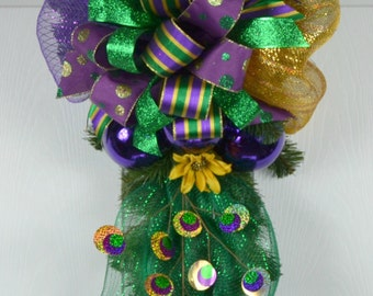 Mardi Gras Deco Mesh Wreath - Mardi Gras Wreaths - Mardi Gras Front Door Wreath - Mardi Gras Decor - Mardi Gras Decorations - Fleur de Lis