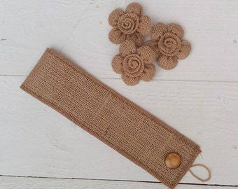Burlap Tie Back - Curtain Tie Back - Burlap Drape Tie Back - Set of 2 - Rustic Home Decor - Home and Living - Hessian Tie Back - Rustic Home