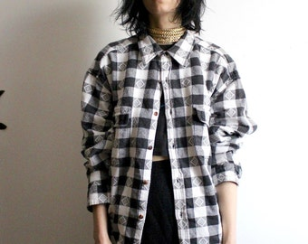 Black + White Heavyweight Flannel