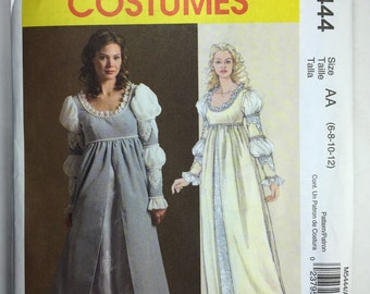McCall's Renaissance Costume M5444 Flared Dress Pattern Misses' sizes 6,8,10,12 uncut