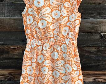 Best Summer Dress ~ Best Work Dress ~ Comfortable Dress ~ Work Dress ~ Tangerine Dress ~ Paisley Fabric ~ Paisley Dress ~ Business Casual