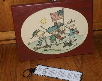 Darling Hand Crafted Wood Precious Moments Bicentennial Plaque