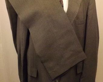 80s Mens Gray Wool Levi Suit  Size 44L