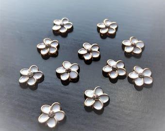 White Flower Floating Charm for Floating Lockets-1 Pc-Gift Idea for Women