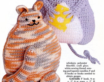 Friendly Foes stuffed toy crochet Pattern from Annie's Attic | Craft Leaflet