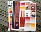 Wizard Planner Stickers - Harry Weekly Sticker Set - for use with Erin Condren Stickers - Happy Planner Stickers