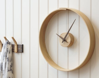 Wooden Wall Clock- English Oak- Handmade- Customised