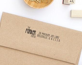 Custom Address Stamp, Return Address Stamp, Wedding Stamp, Self-Inking Address Stamp, Personalized Address Stamp, Family Stamp, Style No. 4
