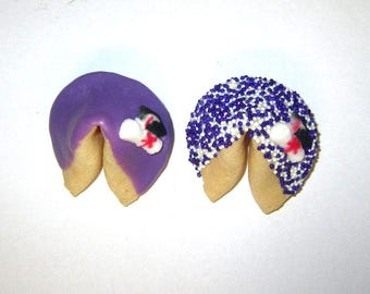 100 GRADUATION Purple & White Fortune Cookies, Achievement, Cap and Scroll, Congratulations Gift