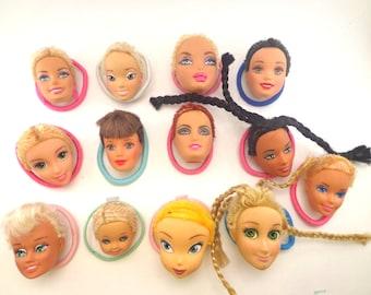 Barbie head ponytails