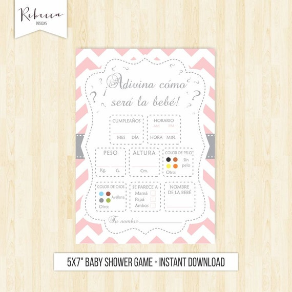 game in spanish baby shower rosa game in spanish espa ol juegos baby