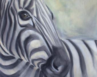 Zebra Pastel Art - Beautifully Printed - Print from original zebra painting