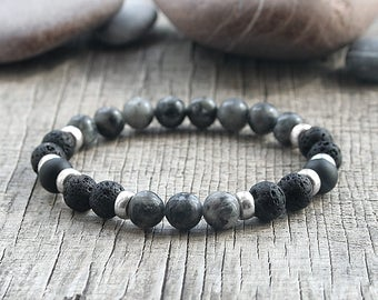 Lava diffuser bracelet Essential oil Diffuser bracelet Aromatherapy diffuser jewellery Beaded bracelet Diffuser oil bracelet for men