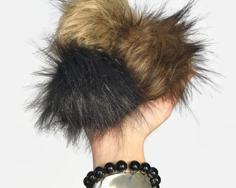 Faux Fur Pom Pom // Handmade Craft Supply // Vegan Friendly // 8 Colors // Fake Fur Hat Topper