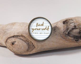 Find your self pin 20 mm diam.