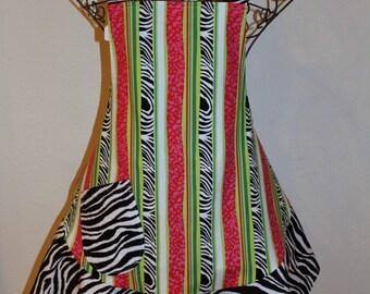 Women's Small Adorable Zebra Print Apron