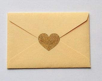 Gold Glitter Heart Stickers - Silver Glitter Heart Stickers - Glitter Heart Stickers - Gold Heart Stickers - Silver Heart Stickers - Glitter