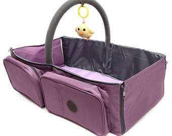 Premium 3 in 1 Diaper Bag is a Baby Nap Mat / Baby Bassinet Portable, Diaper Changing Station.