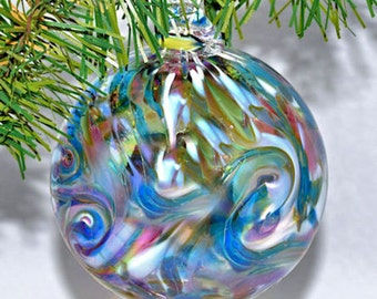Hand blown Glass Dancing Muse Christmas Ornament