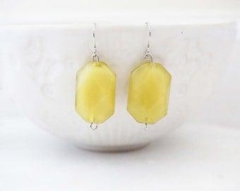 Citron Bead Earrings, Parisian Earrings