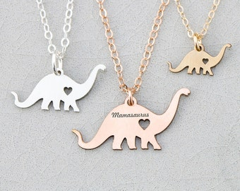 FREE SHIP • Dinosaur Necklace • Dino • Child Necklace Animal Charm Necklace T•Rex Unique Birthday Gift Her Personalize Charm Funny Gift Cute