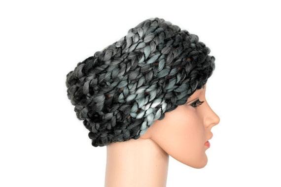 Knit Headband Ear Warmer Warm Wool Headband Knit Winter Boho Girls Headwrap Headband Wide Black Boho Wide Headband Stocking Stuffer Gray
